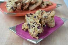 Orange Biscotti with Cranberries and Pistachios