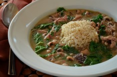 Hoppin' John Soup with Kale