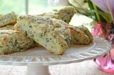 Mixed Herb Scones with Sharp Cheddar
