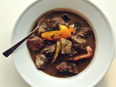 Pork Stew with Peppers and Olives